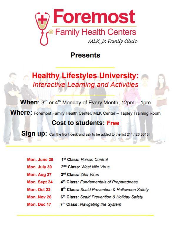 Healthy Lifestyles University