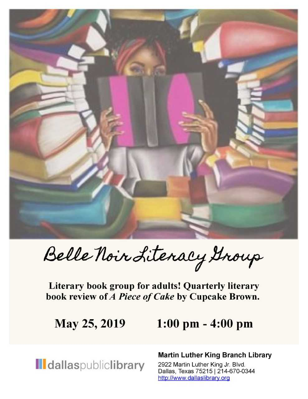Belle Noir Literary Group @ MLK Branch Library