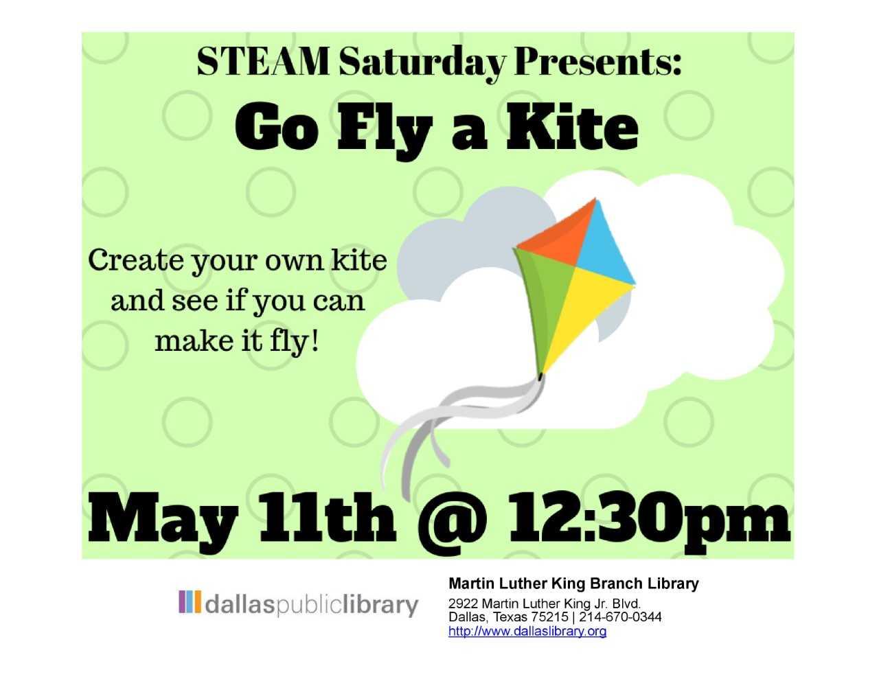 Go Fly a Kite (STEAM Saturdays) @ MLK Branch Library