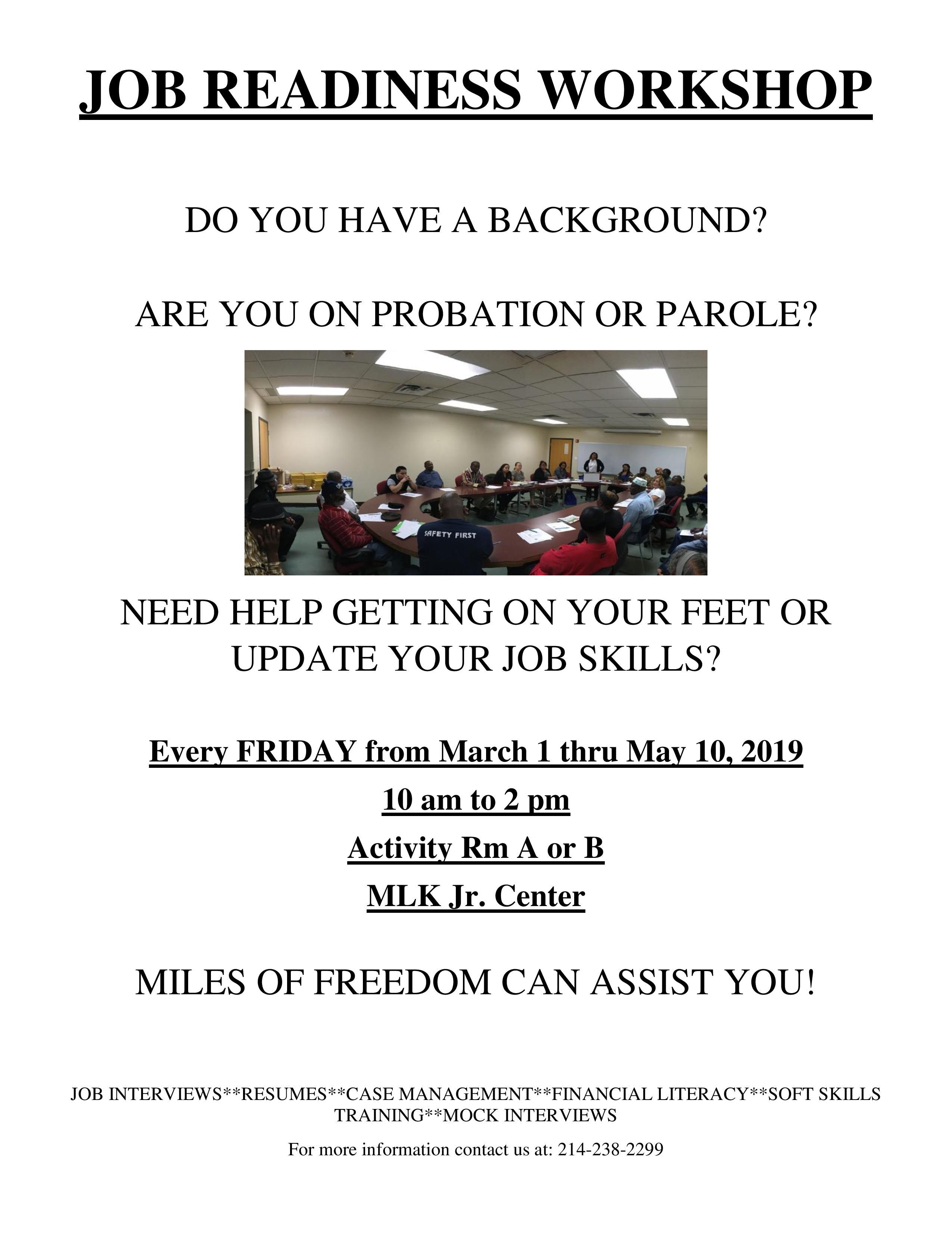 Miles of Freedom Job Readiness Workshop @ MLK, Jr. Community Center