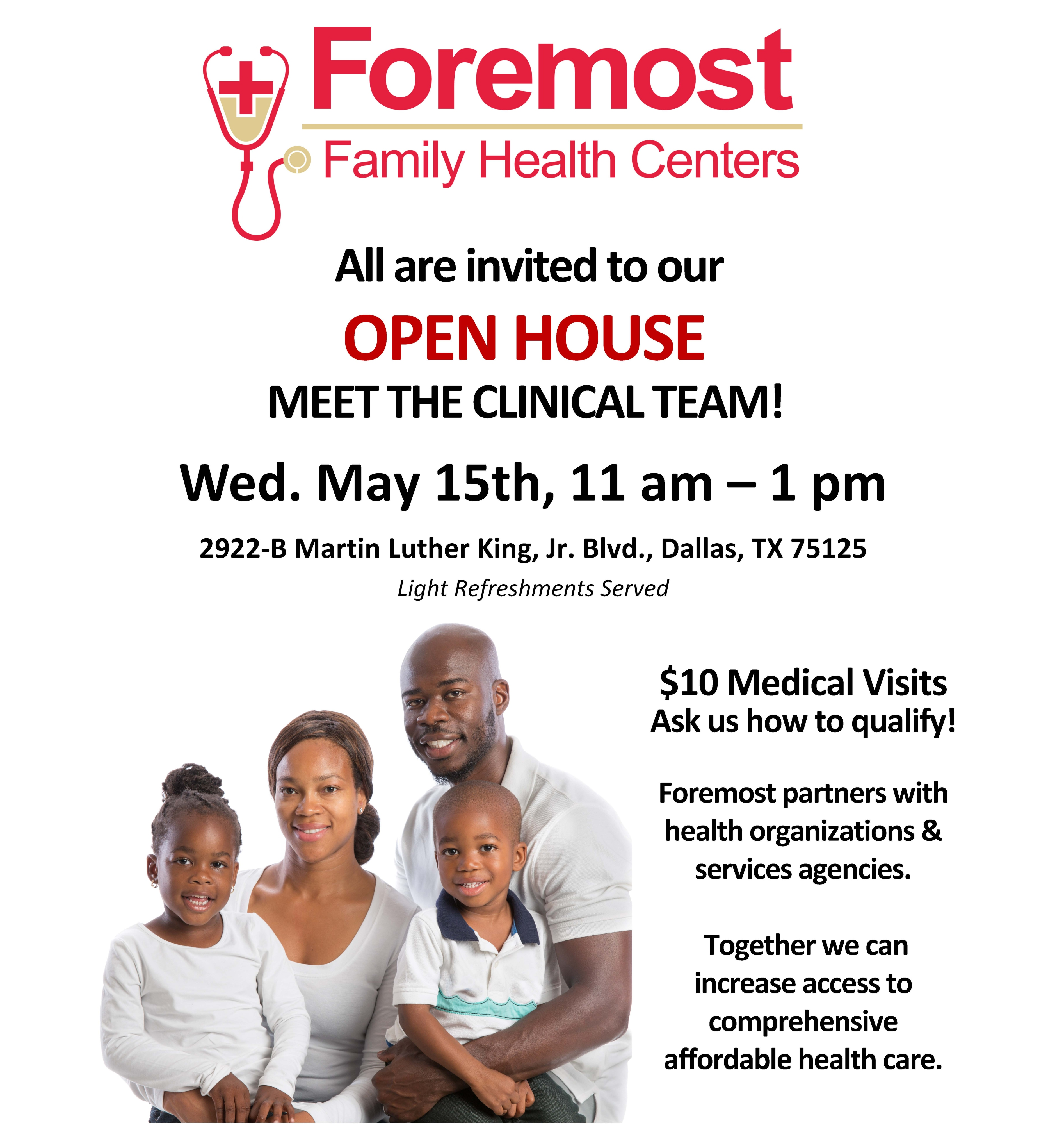 Foremost Family Health Center Open House @ Foremost Family Health Center