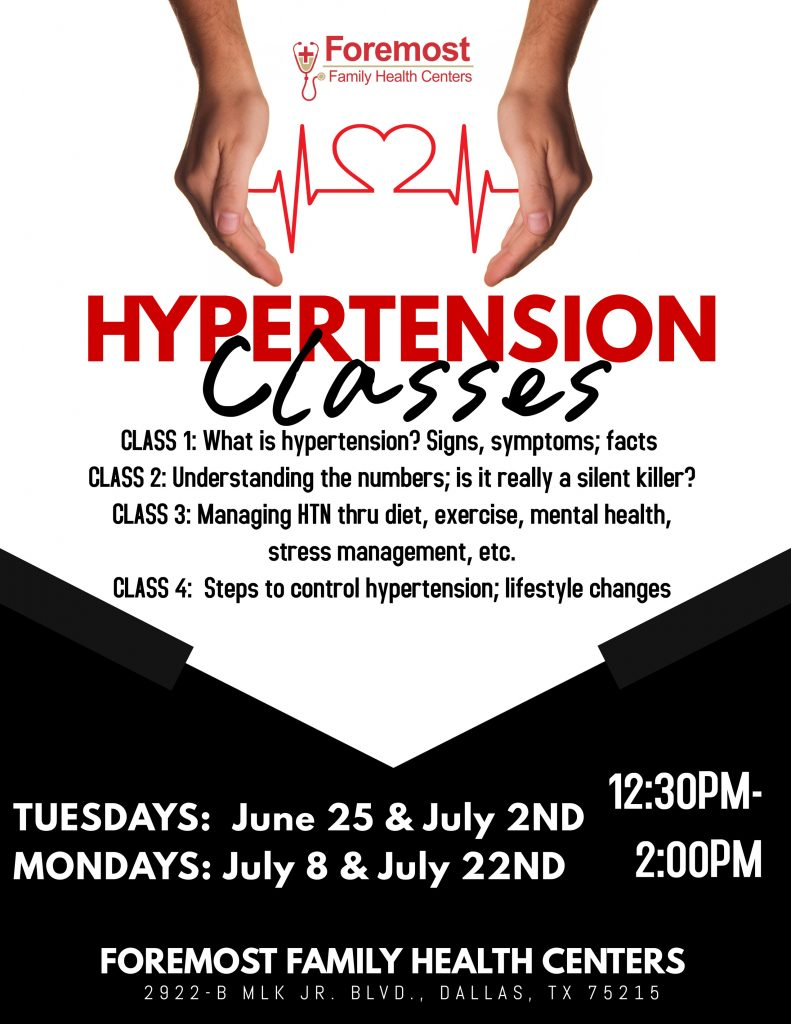 Free Hypertension Classes @ Foremost Family Health Center