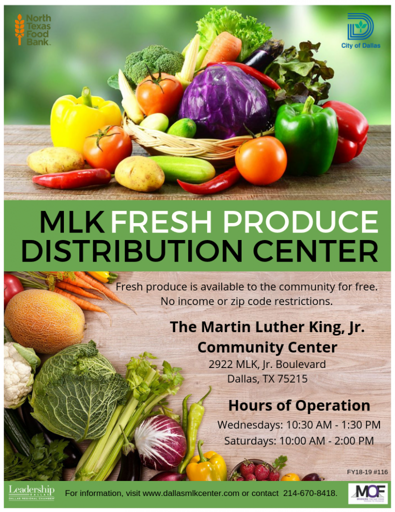 MLK Fresh Produce Distribution Center @ MLK, Jr. Community Center