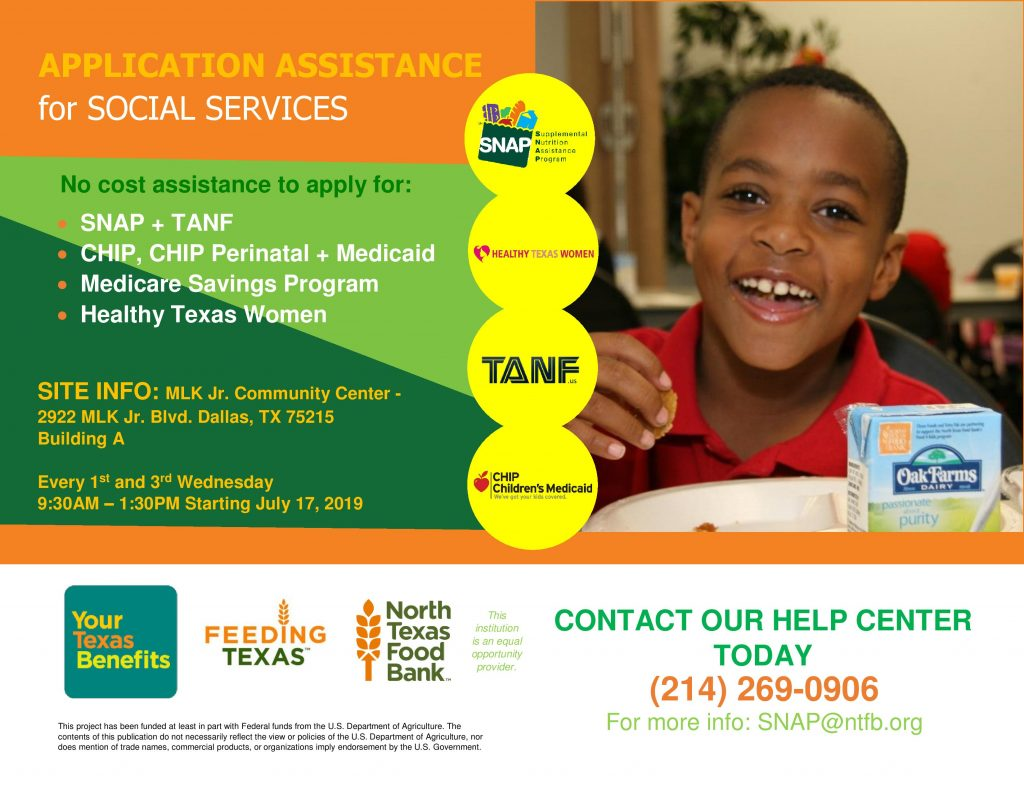 Application Assistance for Social Services @ MLK, Jr. Community Center