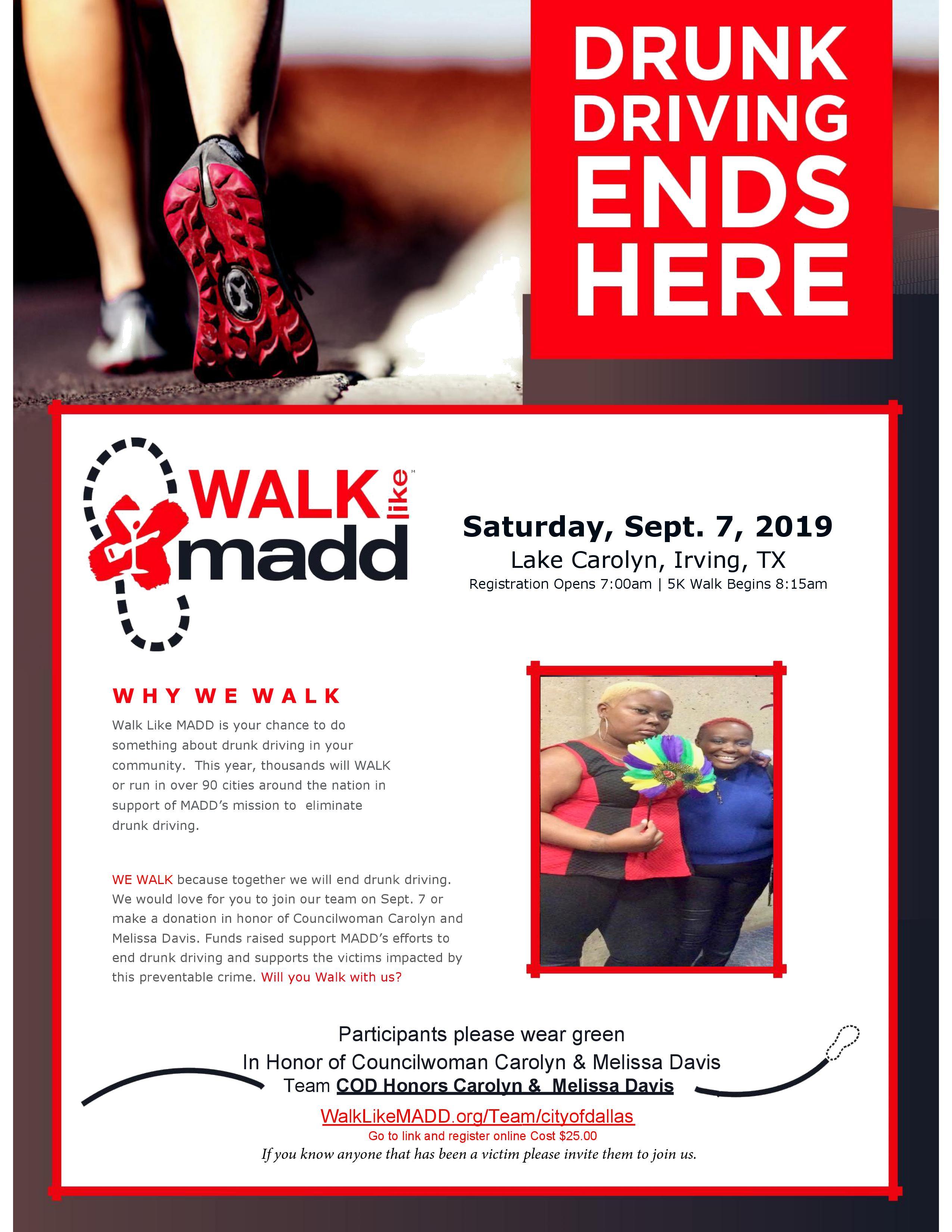 Walk Like MADD @ Lake Carolyn
