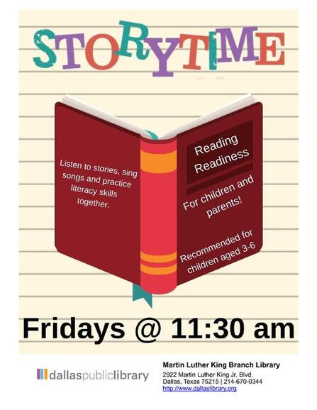 Family Storytime @ MLK Branch Library