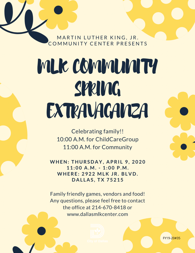 MLK Community Spring Extravaganza @ Martin Luther King Jr. Community Center