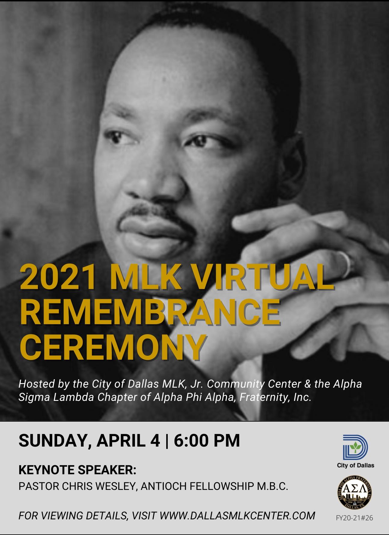 MLK Remembrance Ceremony (Virtual)